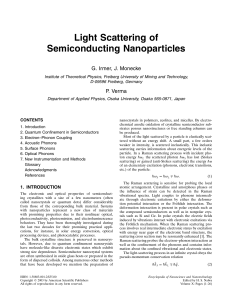 Light Scattering of Semiconducting Nanoparticles