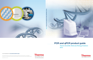 PCR and qPCR product guide