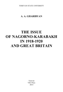 The issue of Nagorno-Karabakh in 1918