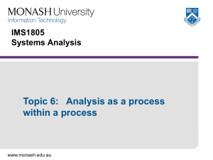 aspects of analysis (from context to specification)