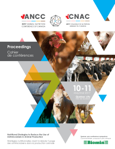 Proceedings - Animal Nutrition Conference of Canada