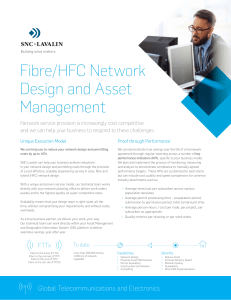 Fibre/HFC Network Design and Asset Management - SNC