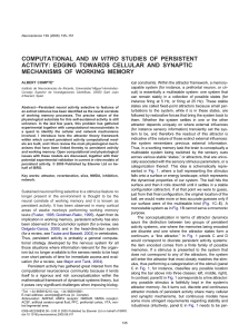 computational and in vitro studies of persistent activity