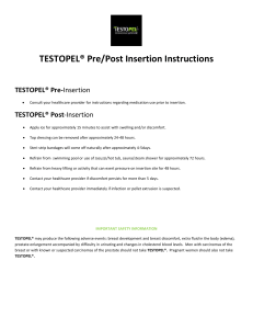 Testopel Patient Instructions