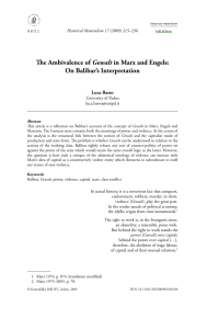 The Ambivalence of Gewalt in Marx and Engels