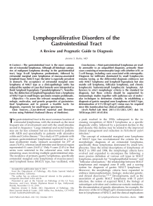 Lymphoproliferative Disorders of the Gastrointestinal Tract