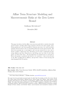Affine Term Structure Modeling and Macroeconomic Risks at the