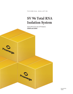 SV 96 Total RNA Isolation System Technical Bulletin