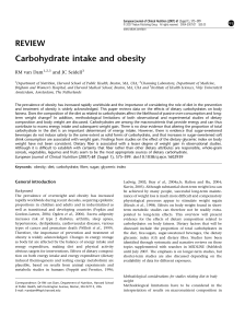 Carbohydrate intake and obesity