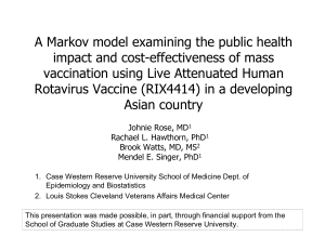 A Markov model examining the public health impact and cost