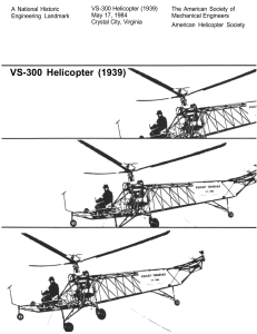 VS-300 Helicopter (1939) - American Society of Mechanical Engineers
