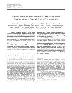 Tartrate‐Resistant Acid Phosphatase Deficiency in the