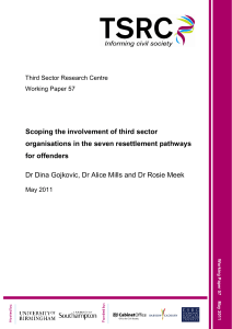 Scoping the involvement of third sector