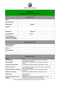 Prevent Channel Referral Form - West Sussex Safeguarding
