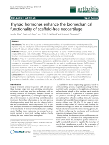 Thyroid hormones enhance the biomechanical functionality of