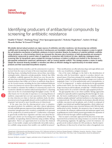 Identifying producers of antibacterial compounds by