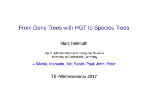 From Gene Trees with HGT to Species Trees