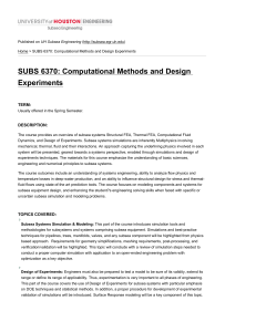 SUBS 6370: Computational Methods and Design Experiments