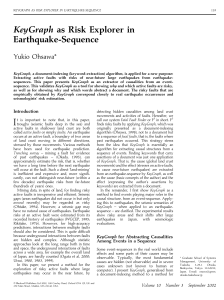 KeyGraph as Risk Explorer in Earthquake-Sequence