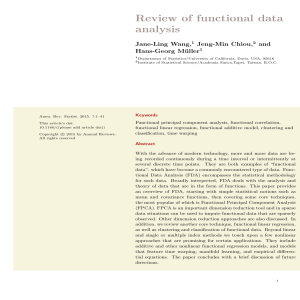 Review of functional data analysis