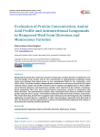 Evaluation of Protein Concentration, Amino Acid Profile and