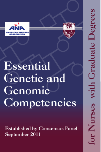 Essential Genetic and Genomic Competencies for Nurses With