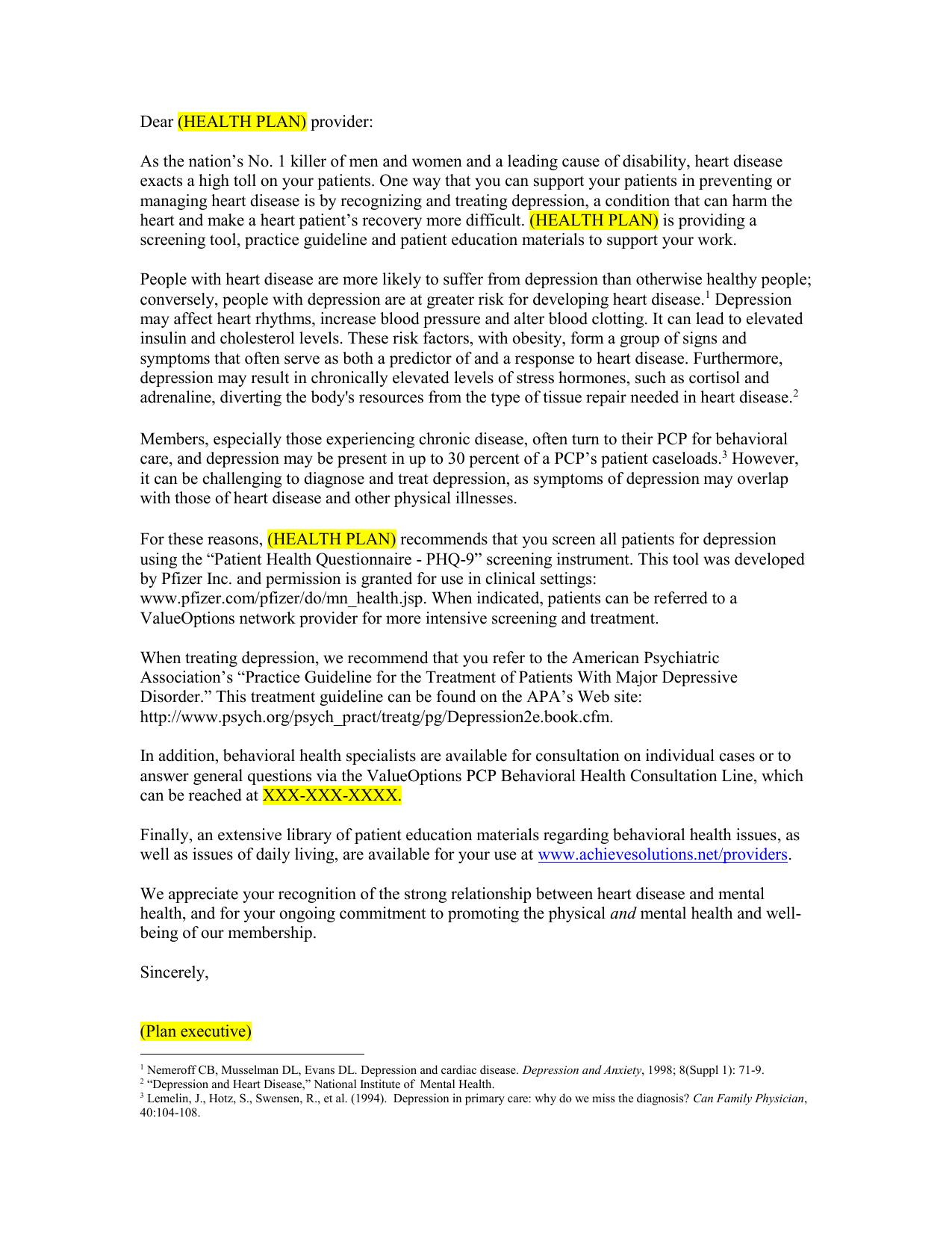 Sample Provider Letter Beacon Health Options