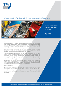 Crash Repair of Adhesively Bonded Automotive Structures