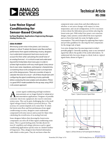 Low Noise Signal Conditioning for Sensor-Based