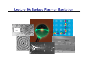 Lecture 10: Surface Plasmon Excitation