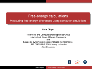 Free-energy calculations - Theoretical and Computational