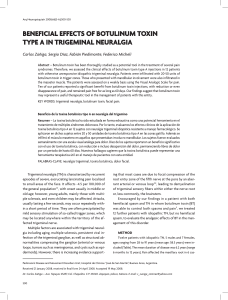 beneficial effects of botulinum toxin type a in trigeminal neuralgia