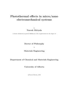 Photothermal effects in micro/nano electromechanical systems