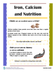 Iron, Calcium and Nutrition