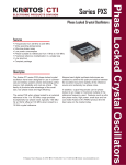 Series PXS Phase Locked Crystal Oscillators from 30 MHz to 200 MHz