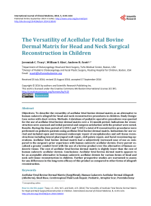 The Versatility of Acellular Fetal Bovine Dermal Matrix for Head and