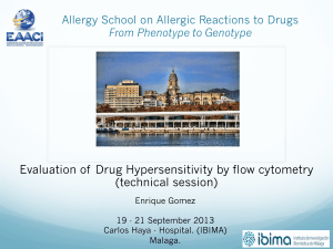 Evaluation of Drug Hypersensitivity by flow cytometry