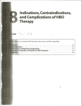 Indications, Contraindications, and Complications of HBO Therapy