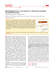 Band Mapping Across a pn-Junction in a Nanorod by Scanning
