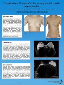 Complications 15 years after breast augmentation with polyacrylamide