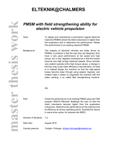 PMSM with field strengthening ability for electric vehicle propulsion