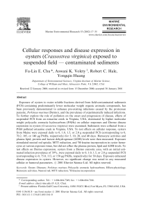 Cellular responses and disease expression in oysters (Crassostrea