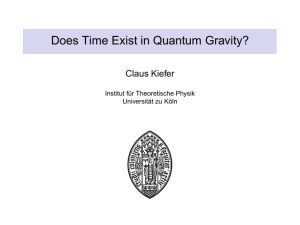Does Time Exist in Quantum Gravity?