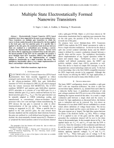 Multiple State Electrostatically Formed Nanowire Transistors