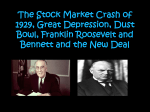 The Stock Market Crash of 1929, Great Depression, Dust