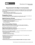 Requirements for the Communication major