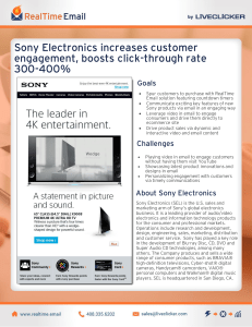 Sony Electronics increases customer engagement