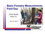 Basic Forestry Measurements Field Day - Stanly County 4-H