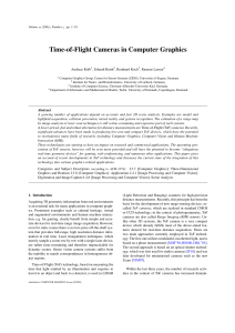 Time-of-Flight Cameras in Computer Graphics