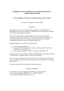 LIQUIDITY PAPER v4 - Institute and Faculty of Actuaries